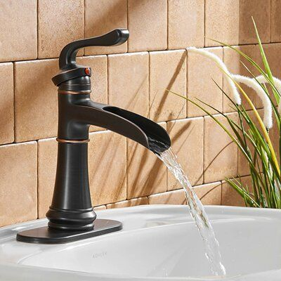 Dfi Single Hole Bathroom Faucet With Drain Assembly Finish Colour