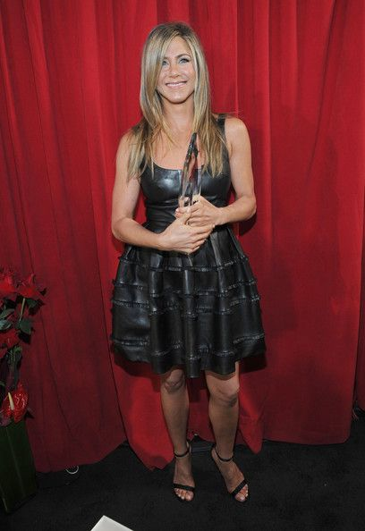 Backstage At The 2013 People's Choice Awards In Leather Christian Dior - Jennifer Aniston's Most Daring Red Carpet Moments - Photos