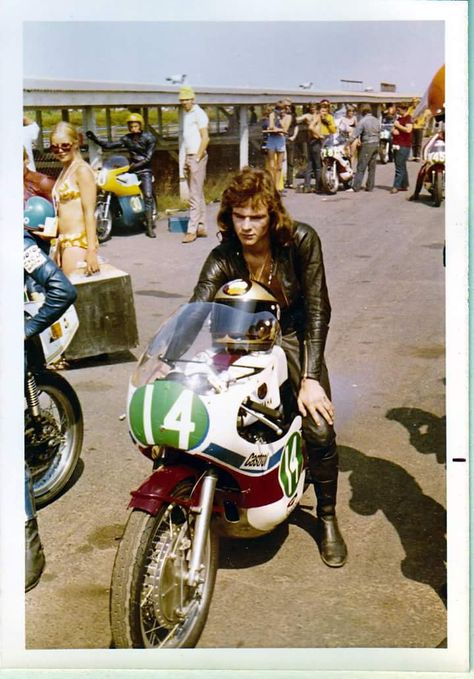 Barry Sheene Canard Hommes Motard T-Shirt Moto Scooter Rue Caf/é Coureur Rider Sidecar Veste Hors la Loi Gang Coup Vitesse V/élo Autoroute Motos Cadeau Lui Papa