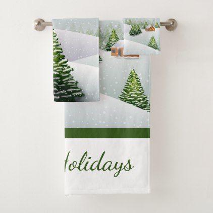 Holiday Decor Watercolor Christmas Cactus Kitchen//Bath Christmas Hand Towel