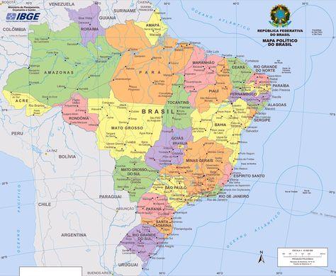 Mapa Politico Do Brasil Mapa Eua Mapas De Parede Estampas De