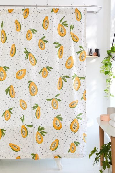 Allover Fruits Shower Curtain Urban Outfitters Curtains