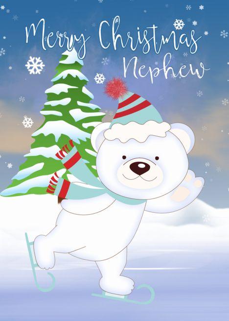 Brother Christmas Card Festive Polar Bear