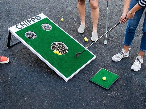 Golf Cornhole Yard Game By Chippo Golf The Grommet In 2021 Golf Game Yard Games Cornhole