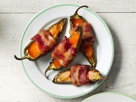 Recipe of the Day: Bacon-Wrapped Jalapeño Poppers 😍 Thank goodness it's so easy to make these party-pleasers — once you make one batch, you'll definitely want another!