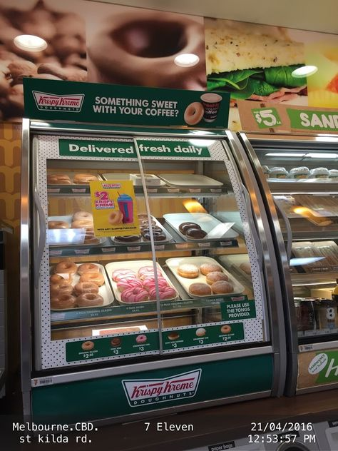 Cross Sell different items in your store by installing a sign that provoke customers' thoughts with a question   .7-ELEVEN Coffee-And-Tea Cross-Sell Doughnut Food-And-Drinks Melbourne Pairing Question