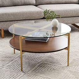 Mid Century Art Display Round Coffee Table Mid Century Coffee Table Decorating Coffee Tables Walnut Coffee Table