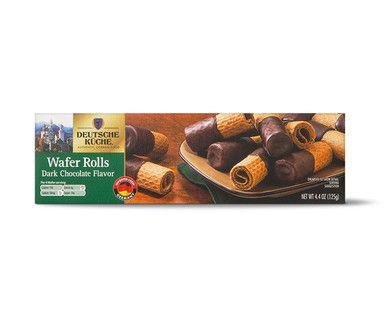Aldi Us Deutsche Kuche Dark Or Milk Chocolate Wafer Rolls