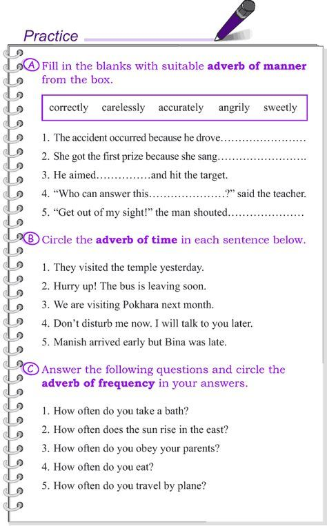Grade 4 Grammar Lesson 11 Kinds Of Adverbs Grammar Lessons English Grammar Worksheets Learn English Words