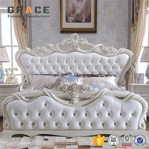 Source Luxury Classic King Size Wood Mdf Royal French Style