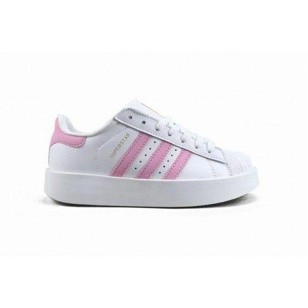 Frau Adidas Superstar Bold W Weiss Rosa Gold Adidassuperstar Adidas Superstar Adidas Adidas Sneakers