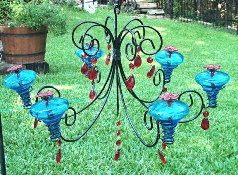 Hummingbird feeder chandelierfanciness is for the birds for hummingbird feeder chandelierfanciness is for the birds for the home pinterest hummingbird bird and bird feeder mozeypictures Gallery