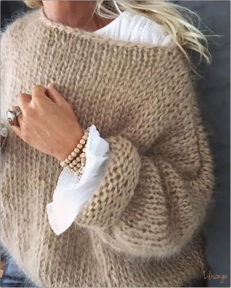 White women sweater  Mohair  sweater Hand Knit women cardigan image 2