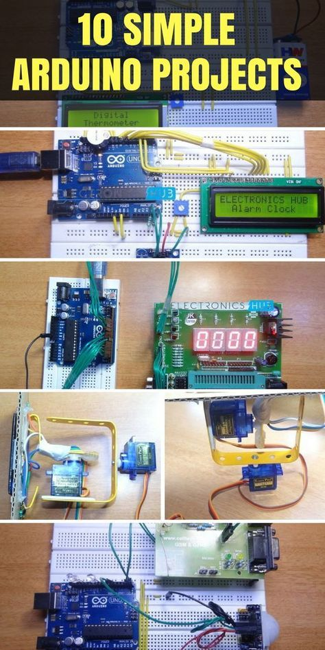 10 Simple Arduino Projects For Beginners with Code | arduino