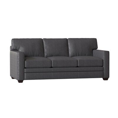 Wayfair Custom Upholstery Carleton Leather Sofa Bed Upholstery Color Durango Black Leather Sofa Bed Sofa Bed Sofa