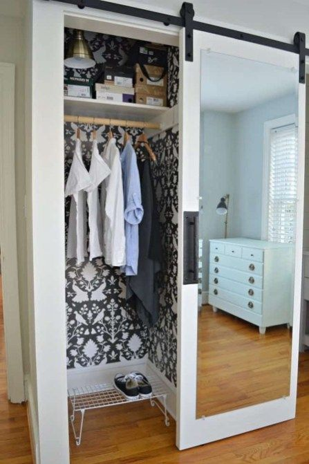 Inspiring Sliding Barn Door Ideas 24 Mirror Closet Doors Wood Closet Doors Cheap Barn Doors