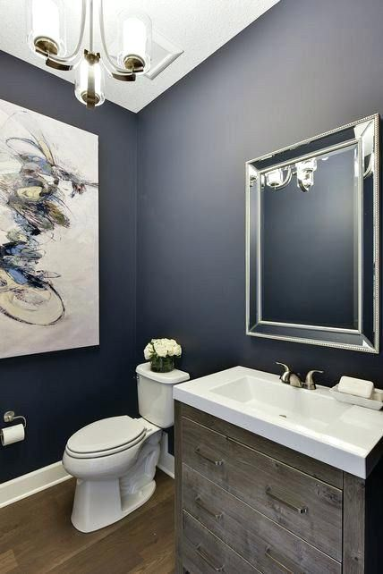 Navy Blue Bathroom Ideas Whether Craving Dynamic Inspired Tiling Or Painting Bathroom Bathroom Paint Colors Navy Blue Walls