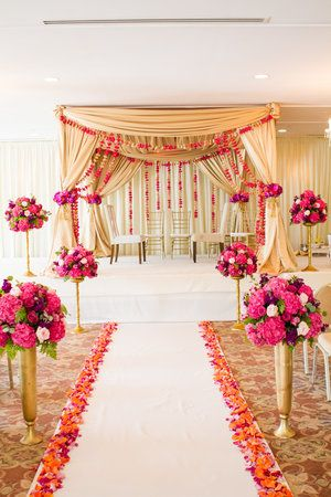 Carriage House Wedding Indian Wedding Indian Ceremony Pink