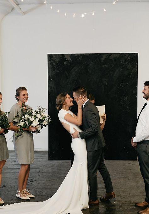Image 18 - David + Jenna: A minimalist warehouse wedding in Real Weddings.