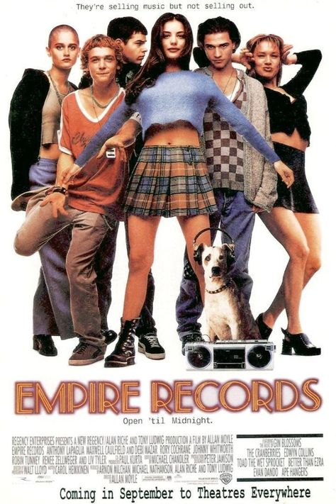 Released in Empire Records combined a record shop, mini-kilts and an amazing soundtrack to create the ultimate teen movie. Released in Empire Records combined a record shop, mini-kilts and an amazing soundtrack to creat Teen Movies, Cult Movies, Iconic 90s Movies, Movies And Series, Movies And Tv Shows, Tv Series, Empire Records Movie, Liv Tyler Empire Records, Love Movie