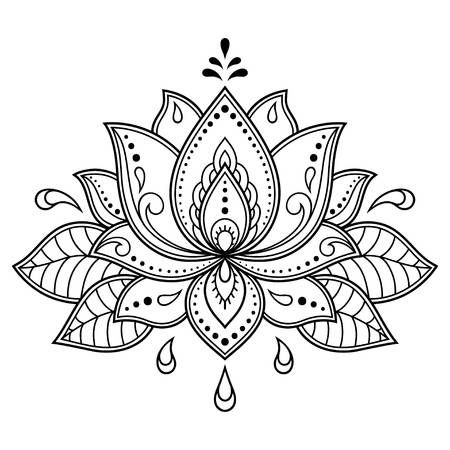 Mehndi Lotus flower pattern for Henna drawing and tattoo. Decoration in ethnic oriental, Indian style. Mehndi Lotus flower pattern for Henna drawing and tattoo. Decoration in ethnic oriental, Indian style. Flower Tattoo, Mandala, Henna Patterns, Mandala Design Art, Flower Patterns, Mandala Coloring, Henna Drawings, Flower Tattoos, Pattern Tattoo