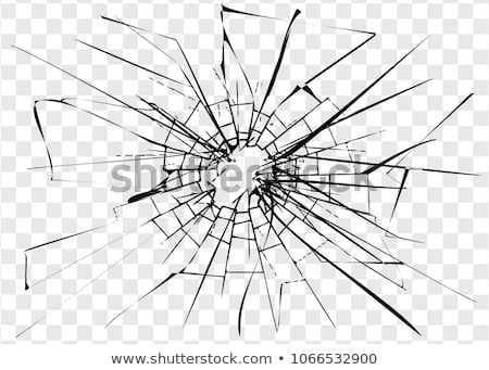 Broken Glass Cracks On Glass High Resolution Shatter Image