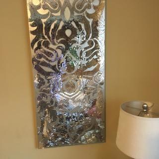 Champagne Mirrored Mosaic Damask Wall Panel | Pier 1 Imports