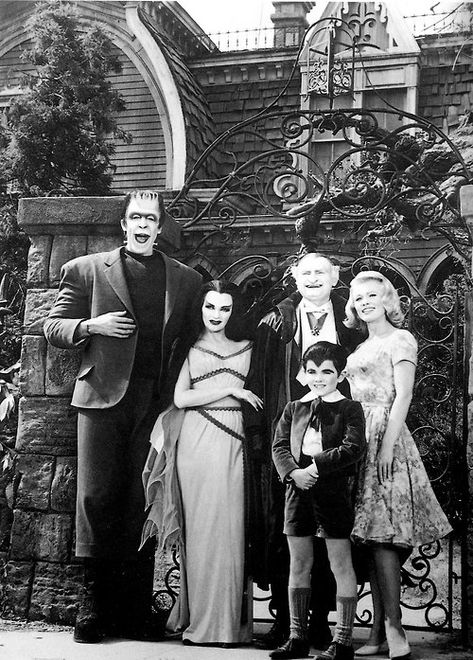 The Munsters, The Addams Family, Bewitched, and I Dream of Genie melded horror with comedy in the The Addams Family, Adams Family, Photo Vintage, Vintage Tv, Vintage Photos, Mejores Series Tv, Lily Munster, Tv Movie, The Munsters