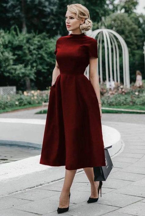 Charming Popular Prom Dresses ,Tea Length Prom Dress ML5484