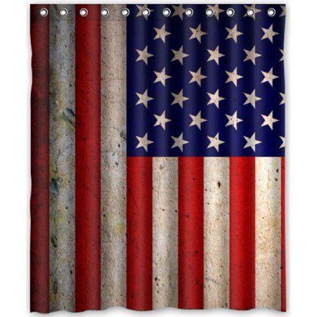 Home Shower Curtain Sets American Flag Bathroom Accessories