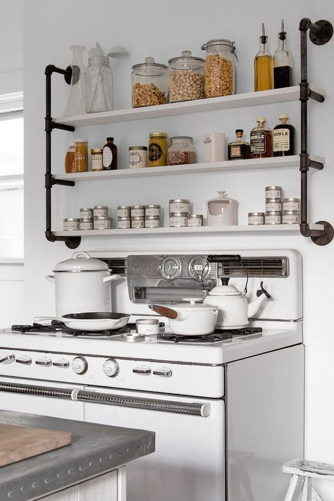 Peachy Industrial Shelves Over The Stove Shelves Yo Country Download Free Architecture Designs Momecebritishbridgeorg