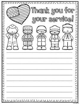 Thank You For Your Service Letters Perfect For Veteran S Day