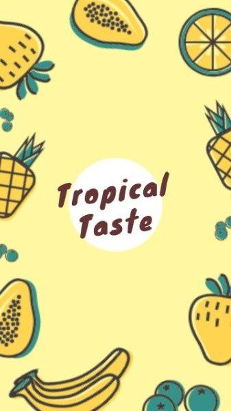 Online Tropical Fruit Mobile Wallpaper Template Find Out More Fotor Design Maker Design Maker Collage Design Mobile Wallpaper
