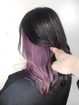 26+ Purple hair underneath trends