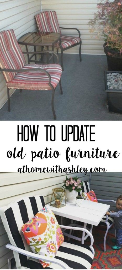 . How to Update Old Patio Furniture   Patios  Backyard and Porch
