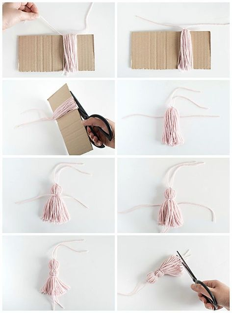 DIY Crafts :  How to make a yarn tassel