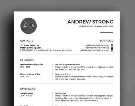 Professional Resume Template   CV Template Cover by SuperCV - how to write a reference list for resume