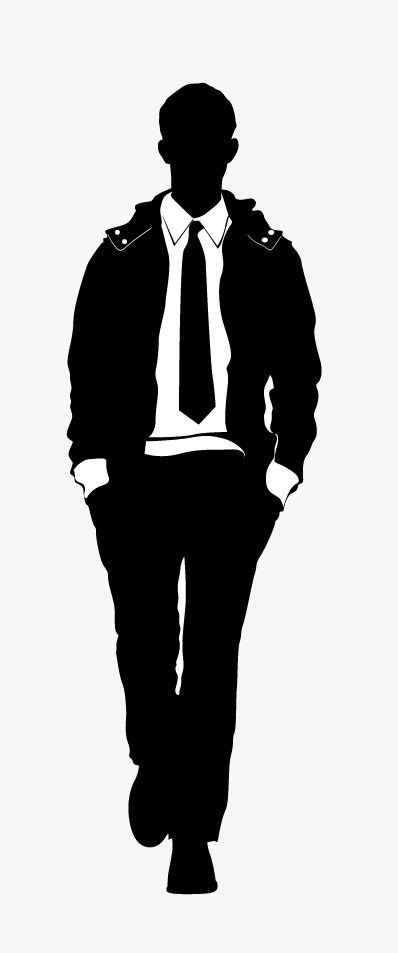 Male Models Man Silhouette Vector Man Png And Vector With