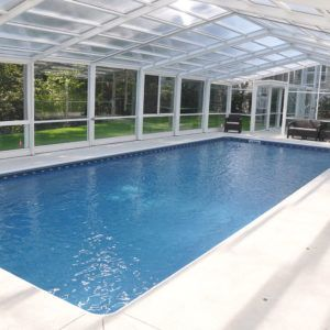 Retractable Residential Pool Enclosure, Scarborough, ME ...