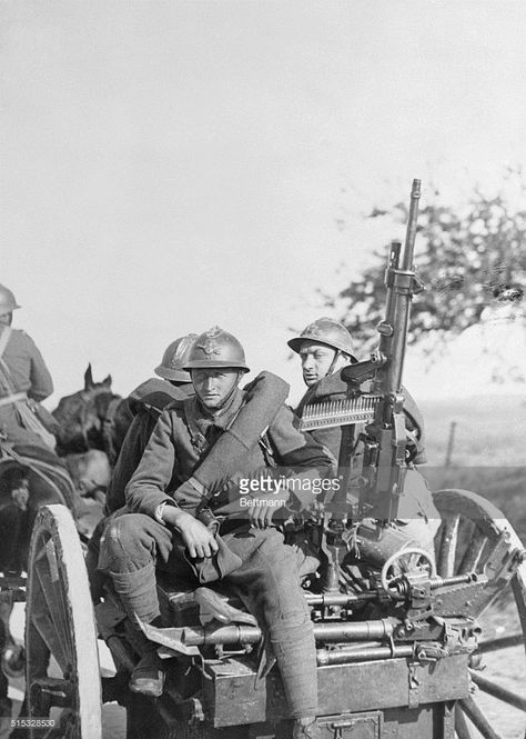 French Soldiers with Anti-Aircraft Artillery During World War I