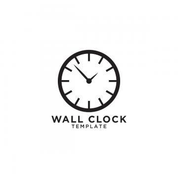 Wall Clock Logo Design Template Clock Icon Illustration Png And Vector With Transparent Background For Free Download