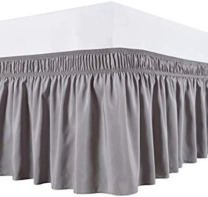 Biscayn Wrap Around Bed Skirts, Wrap Around Bed Skirt Queen Size