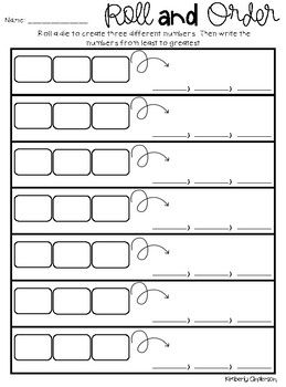 Roll And Order Numbers Greatest To Least Least To Greatest Fourth Grade Writing Ordering Numbers Activities Teaching Math