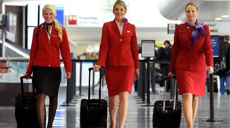 Virgin in-flight crew looking fierce! Virgin Atlantic Flying Club members can now use points to fly on Virgin America (L) and Virgin Australia (R) at www.virgin-atlantic.com