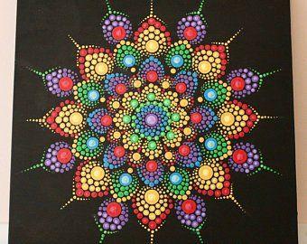 Handmade dot mandalas by lafternoondesigns on Etsy