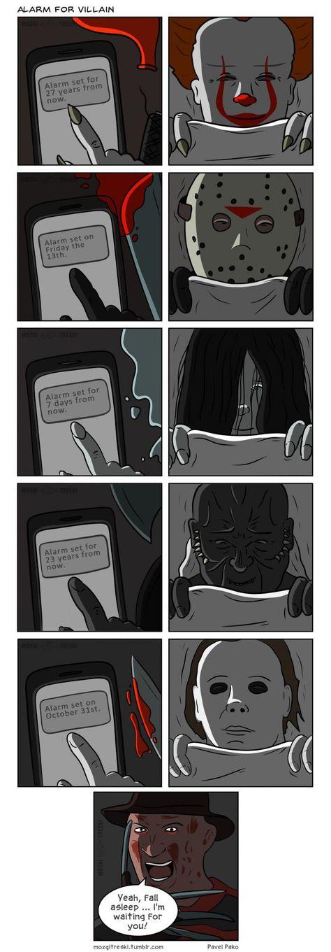 Alarm for villain - #Alarm #memes #villain