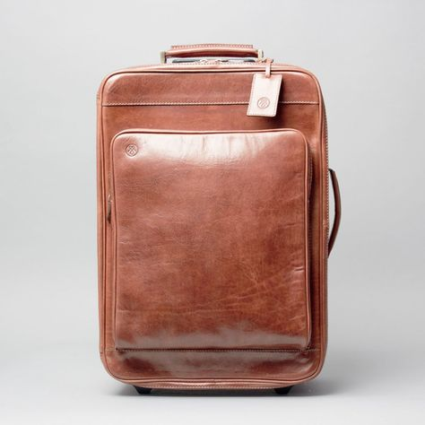 The Piazzale Wheeled Leather Trolley Case