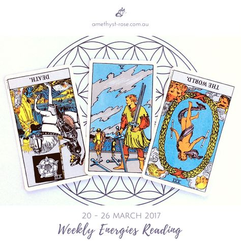 #WeeklyEnergies #WeeklyTarotReading: 20 - 26 March 2017  We begin the week wondering why we haven't made more progress - we've been putting in the time and effort, yet we just can't seem to get past a certain point.  As the week wears on you'll begin to discover...   Click on the image to see the whole reading.  Have a great week! <3 Vanda xx  #WeeklyReading #EnergyOfTheWeek #GeneralReading #Tarot #InsightsFromTheTarot #WisdomOfTheTarot #ReadingsWithVanda