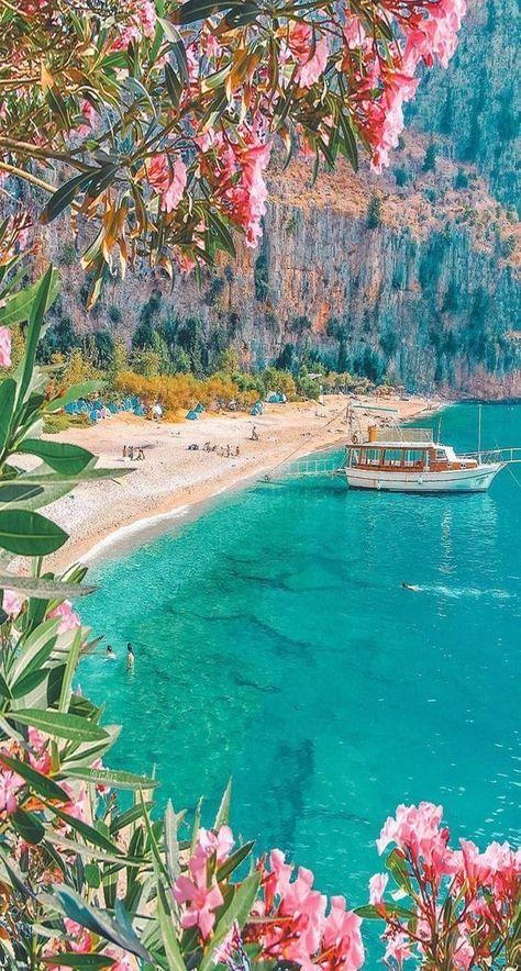 BEACH VACATION EUROPE TRAVEL DREAM BLUE WATER BOAT VSCO