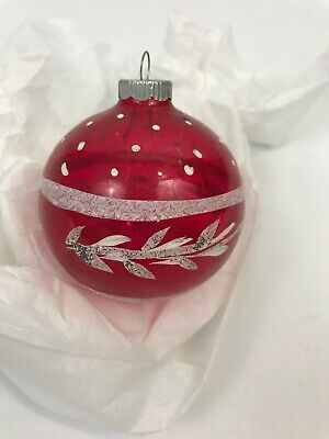 Vintage Shiny Brite Christmas Ornament Pink Unsilvered White Mica 2 75 Shiny Brite Christmas Ornaments Christmas Bulbs